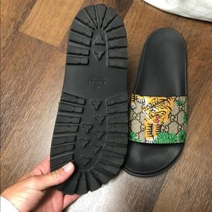 Gucci Shoes - Gucci tiger slides